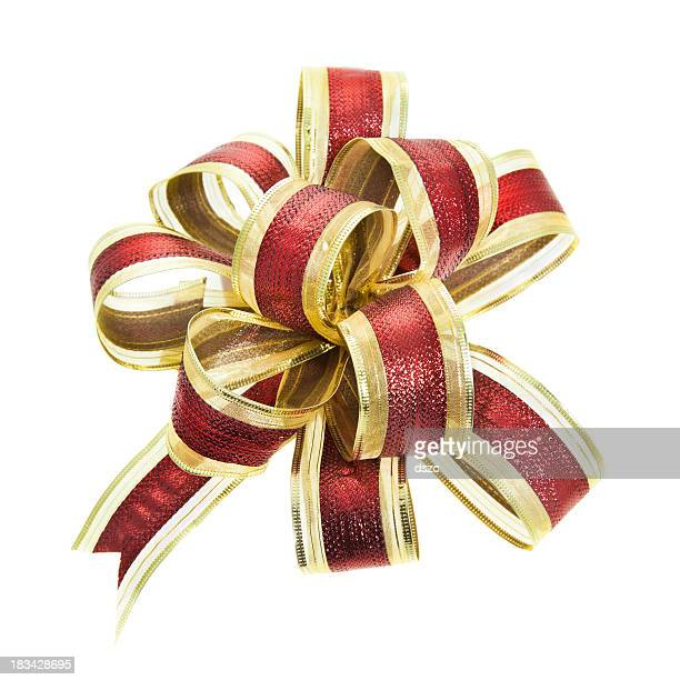 Or et rouge cadeau bow fancy