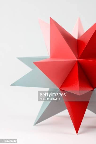 red and great origami star - 尖っている ストックフォトと画像