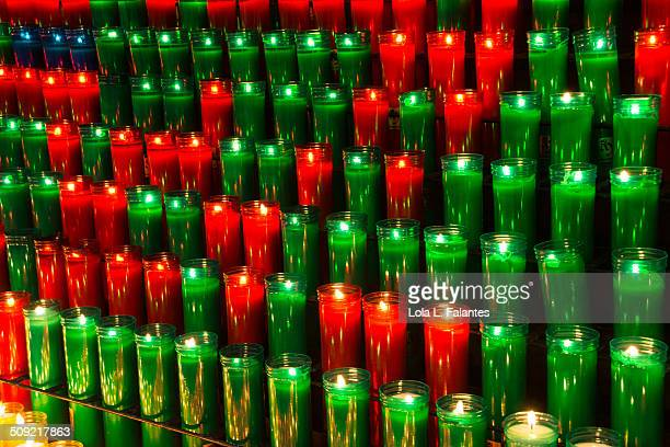 Red and green candles
