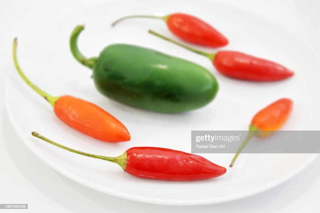 Red and Green Chillies : Stock Photo