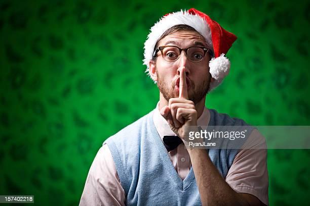 Nerd de Navidad rojo y verde con un secreto