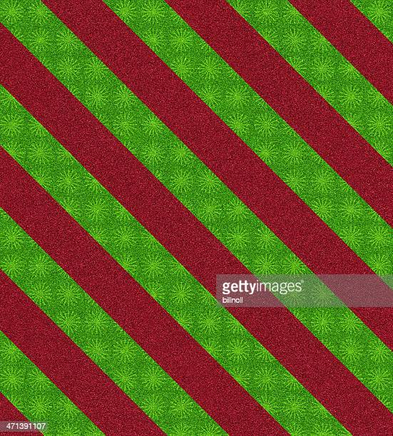 red and green pattern glitter
