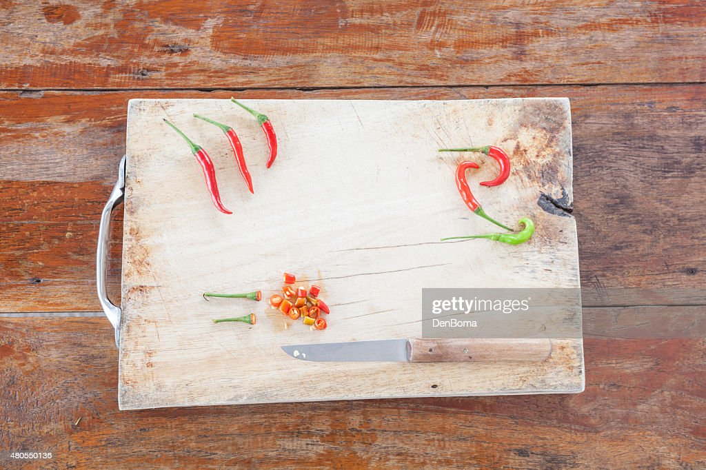 Red and green peper : Stock Photo