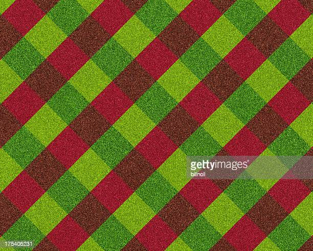 red and green plaid glitter