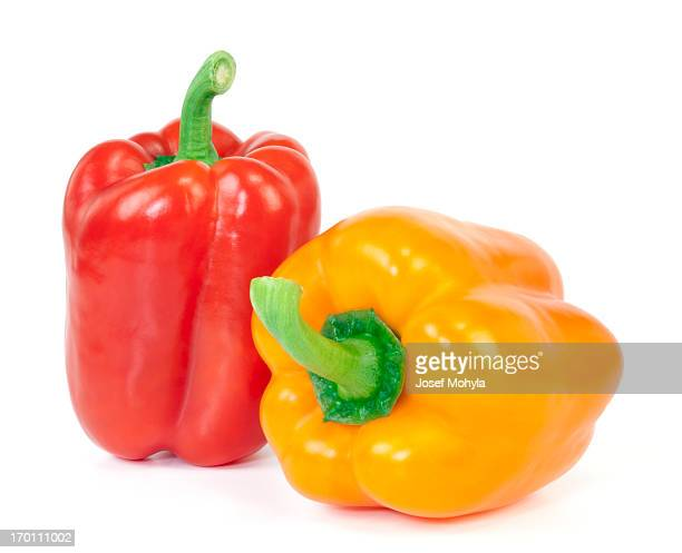 Red and Orange Bell Pepper