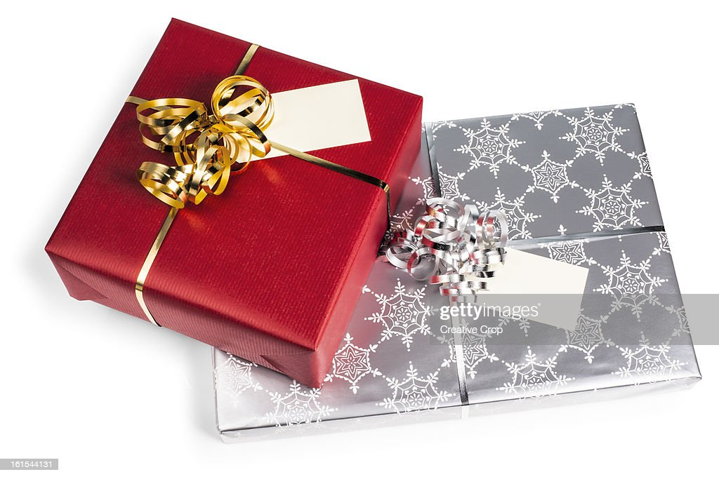 Red and silver gift wrapped presents stock photo getty images red and silver gift wrapped presents stock photo negle Choice Image