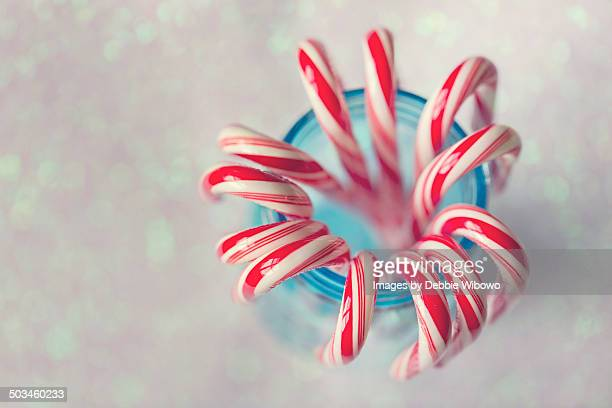 Red and white candy cane candies