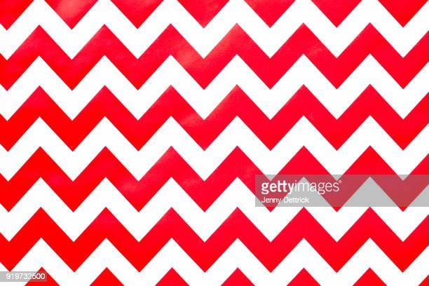 Red and white chevron pattern