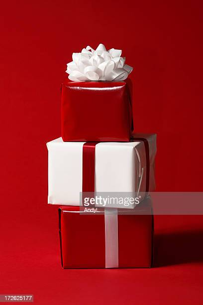 Rote und weiße Weihnachten Geschenke