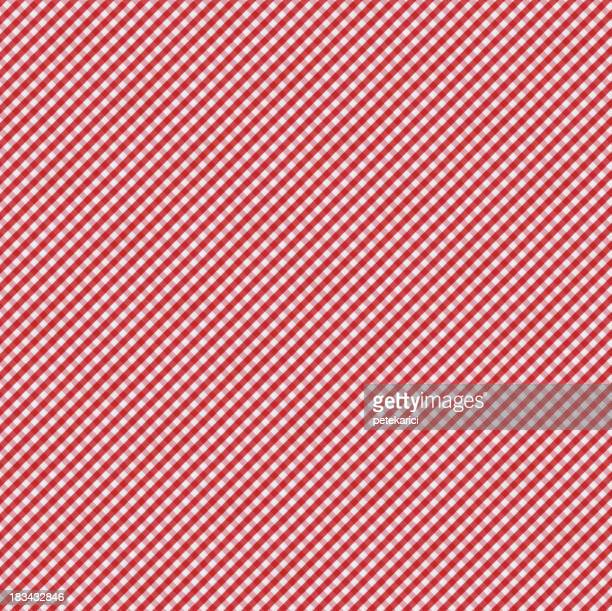 Red and White Gingham Tablecloth Pattern