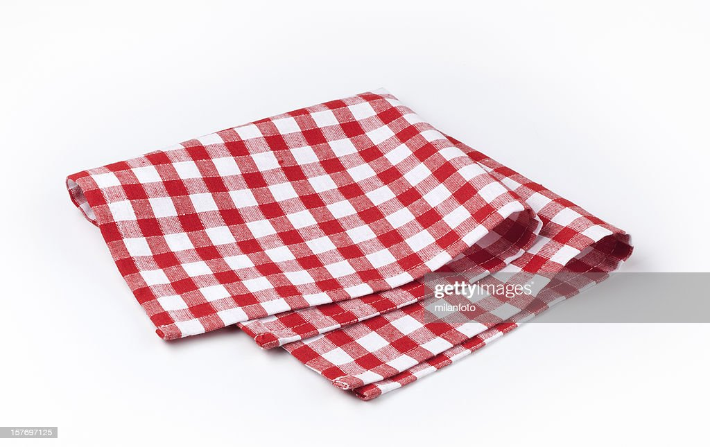 Guardanapo branco e vermelho : Foto de stock