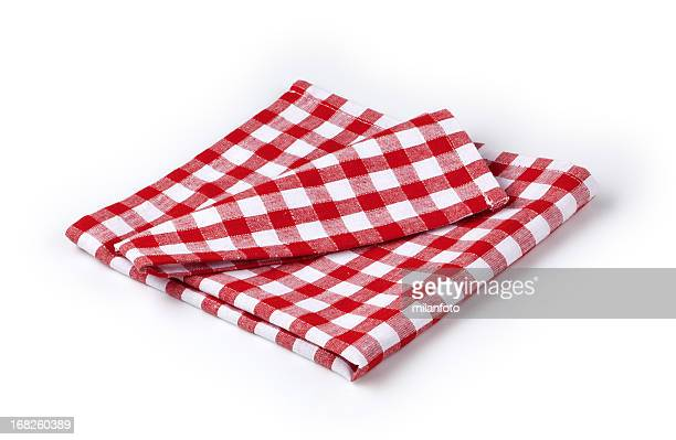 Rote und weiße Serviette
