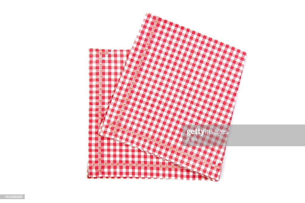 Red and white napkin : Stockfoto