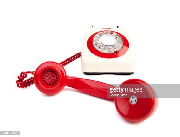Rote und weiße Telefon