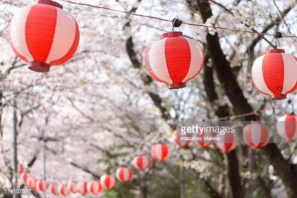 Red and White Striped Lanterns