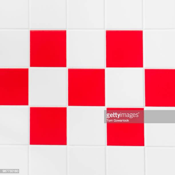 Red and white tiles