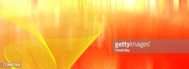 Red and yellow abstract swirl background