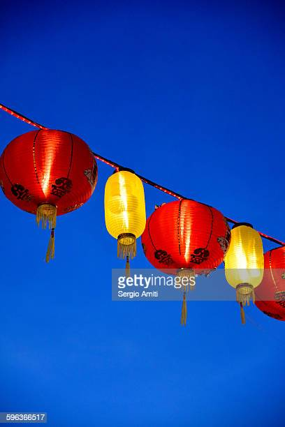 Red and yellow lanterns