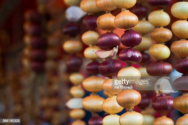 Red and Yellow Onion Garlands
