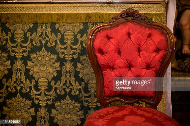 Red antique chair