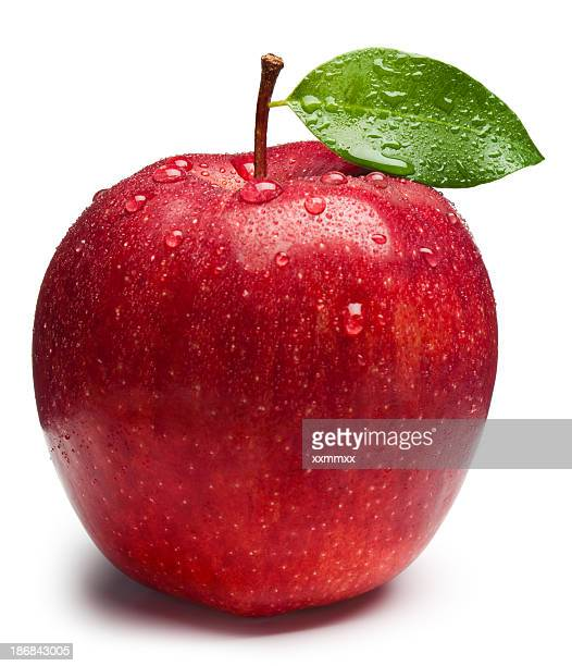 red apple - apple fruit stock photos and pictures