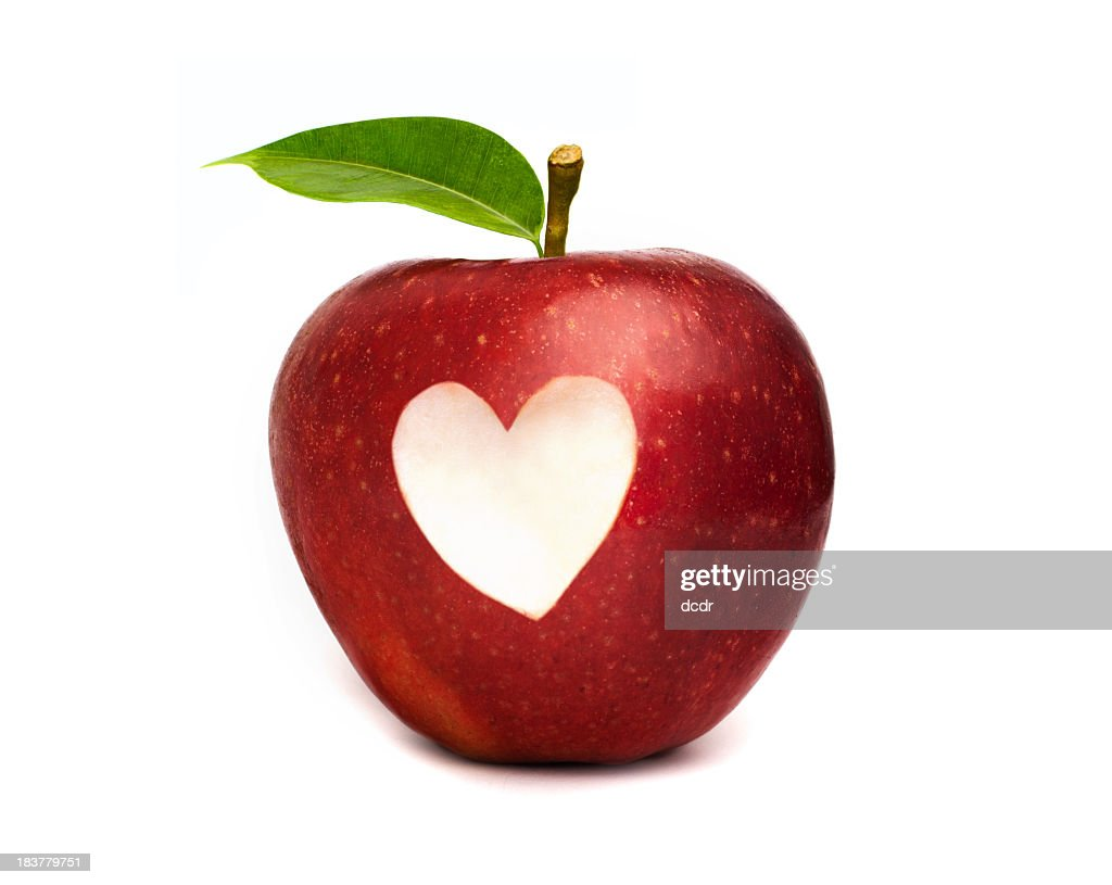 Red apple with a heart symbol cut out stock photo getty images red apple with a heart symbol cut out stock photo buycottarizona