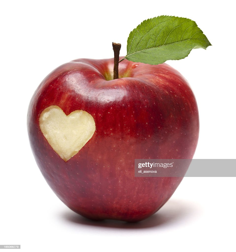 Red apple with a heart symbol stock photo getty images red apple with a heart symbol stock photo buycottarizona