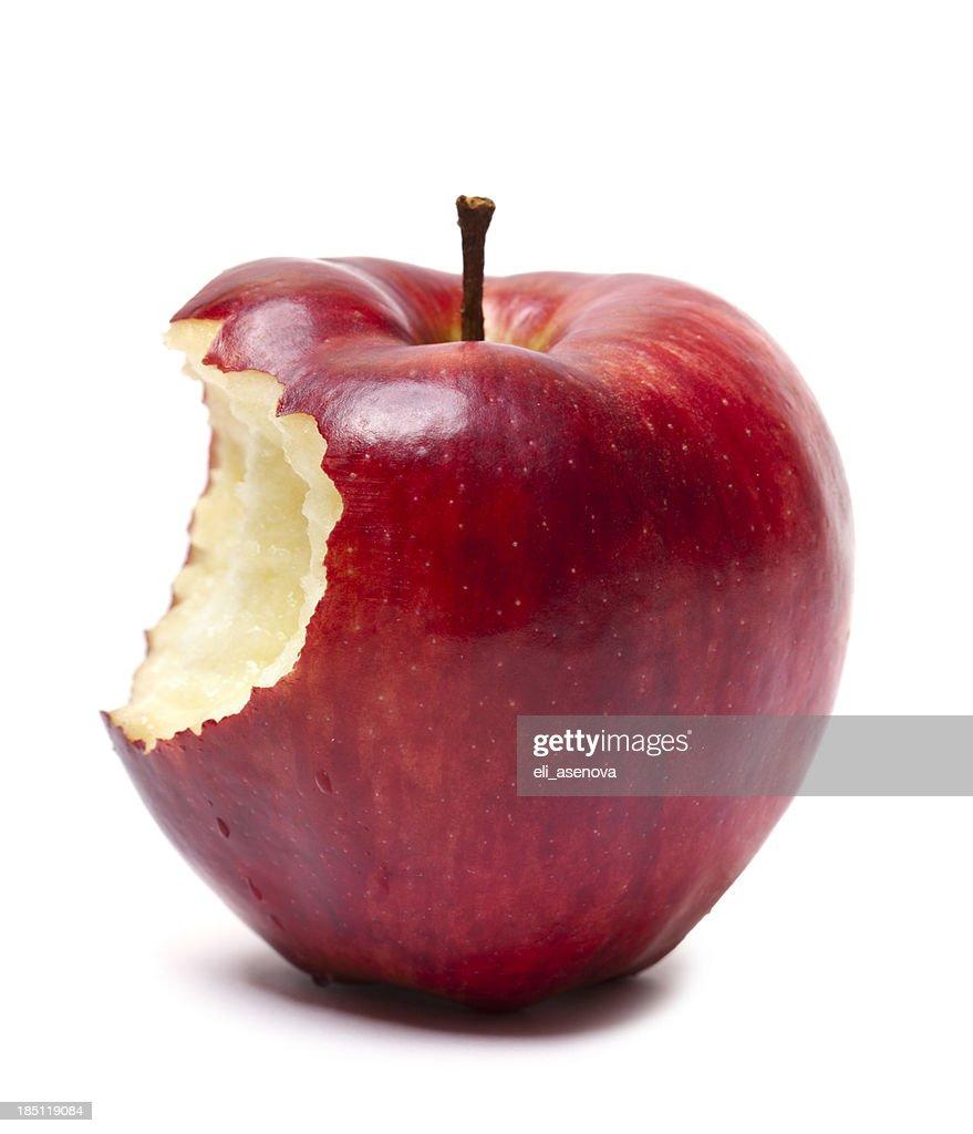 レッドアップルでの軽食 : ストックフォト