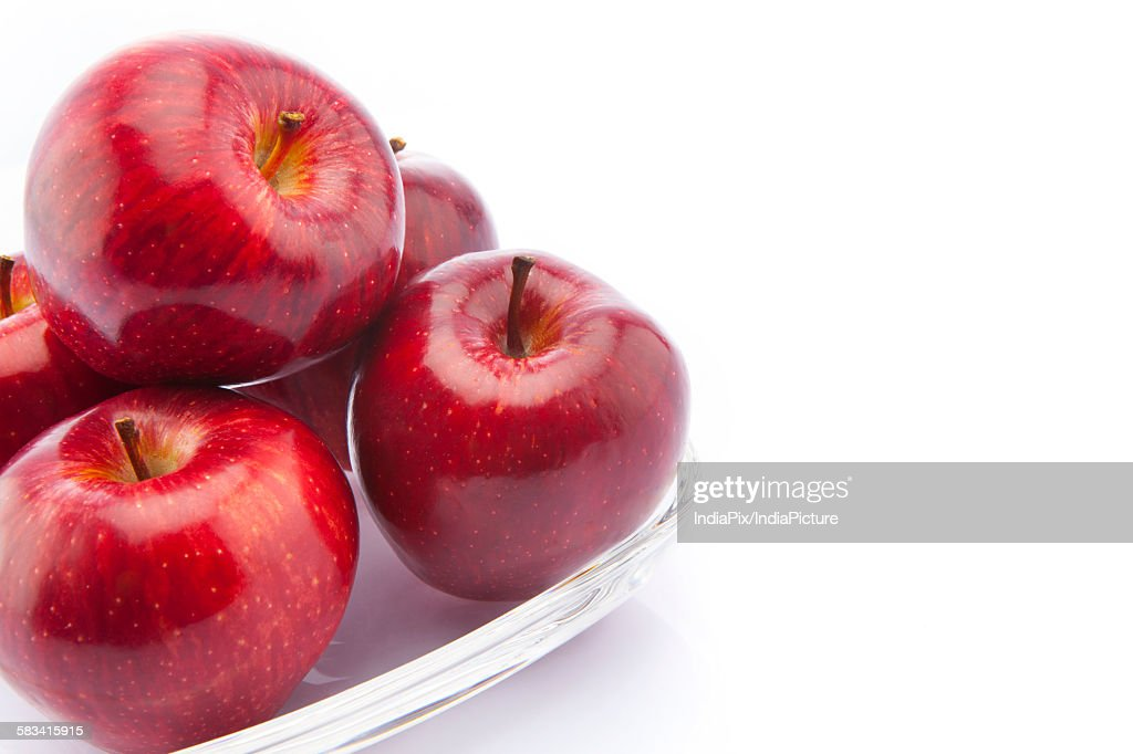 Red apples in a bowl : Stock Photo