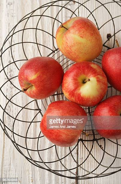 Red Apples in Wire Basket