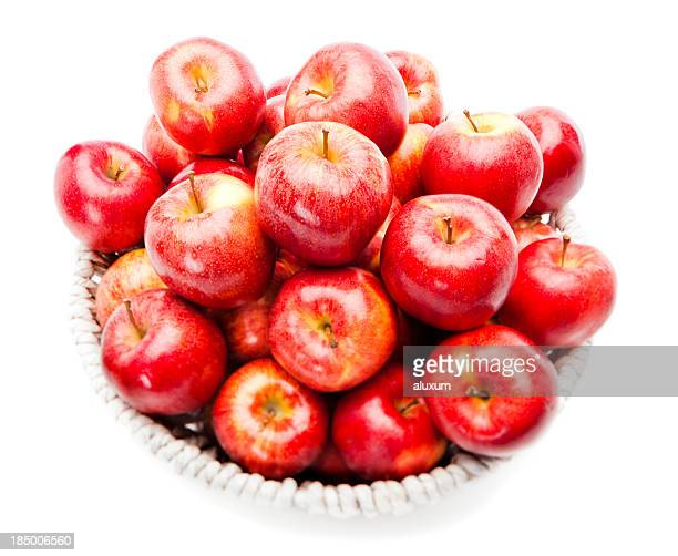 red apples - royal gala apple stock photos and pictures