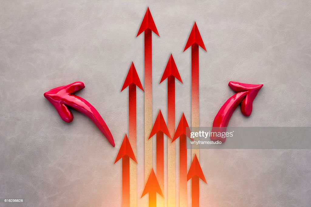 Red arrow leader  Business concept. Red arrow leader  Business c : Foto de stock