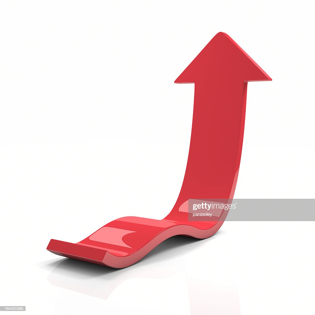 Red Arrow Up : Stock Photo