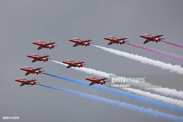 Red Arrows display team at RNAS Yeovilton Airday 2011