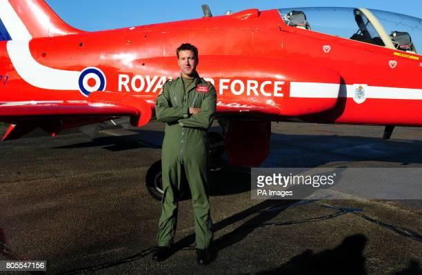 Red Arrows Sqn Ldr Ben Murphy at RAF Scampton, Lincolnshire.