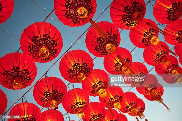 Red Asian Lanterns