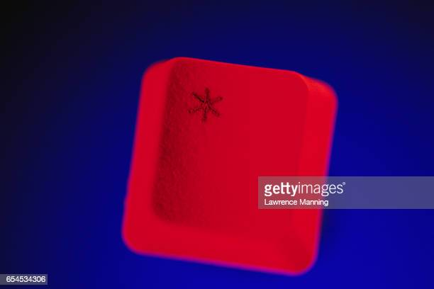 Red Asterisk Computer Key