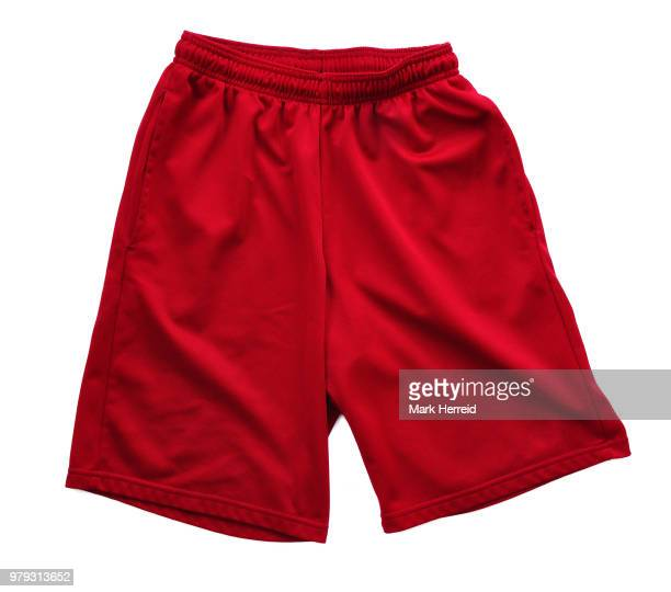 red athletic shorts - calzoncini da bagno foto e immagini stock