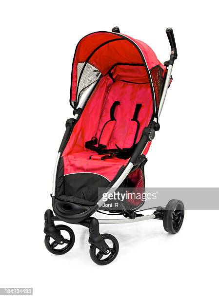 red baby strollers - baby stroller stock pictures, royalty-free photos & images