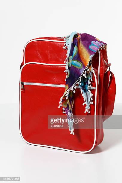 red bag with kerchief