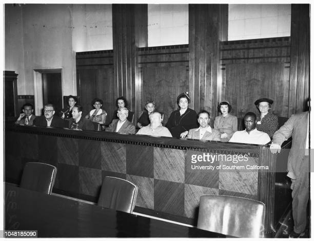 Red bail 8 December 1951 Ernest O FoxCarl R LambertWilliam SchneidermanAlbert J LimaAl RichmondHenry SteinbergPhillip M ConnellyDorothy R HealyOleta...