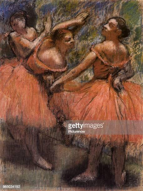 Red Ballet Skirts Degas Edgar