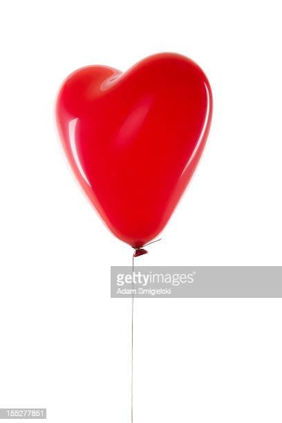 balão de coração vermelho - balão decoração - fotografias e filmes do acervo