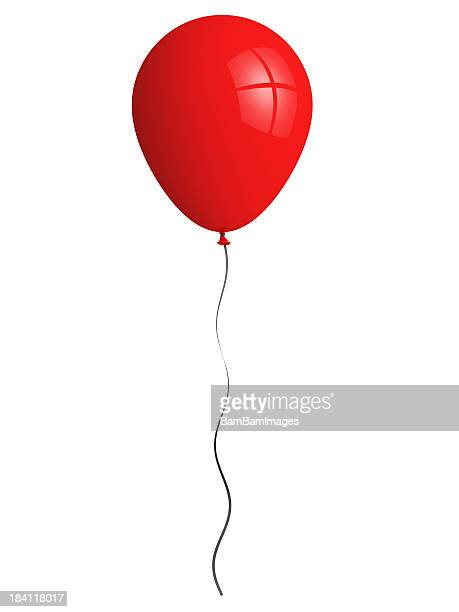 red balloon - string stock pictures, royalty-free photos & images