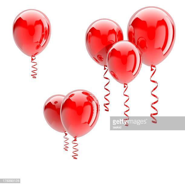 Rojo globos