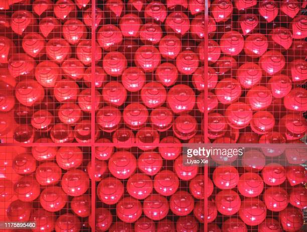 red balls - liyao xie stock pictures, royalty-free photos & images