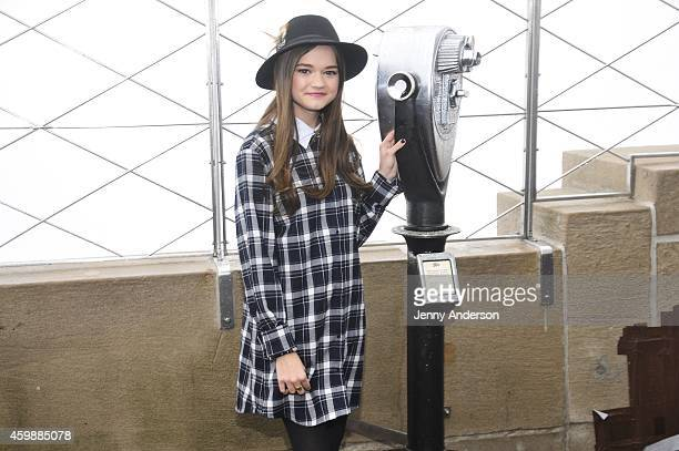 'Red Band Society' star Ciara Bravo visits the Empire State Building on December 3 2014 in New York City