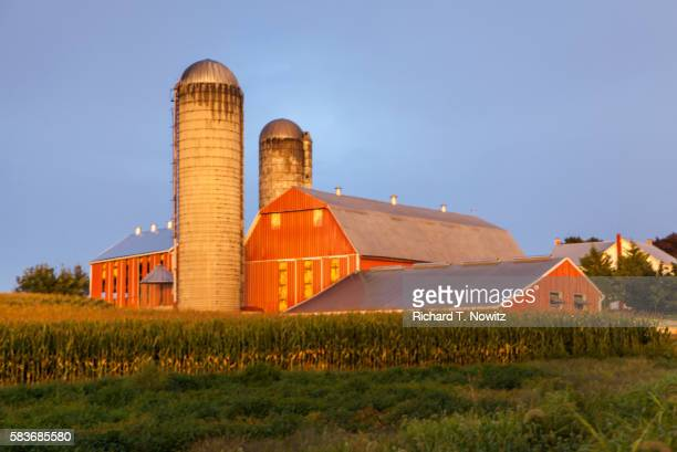 Red Barn and corn fields