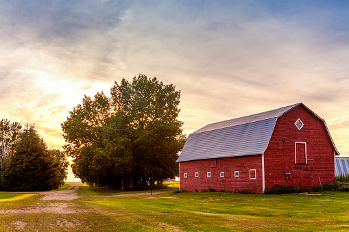 Red Barn at Sunset 845461822
