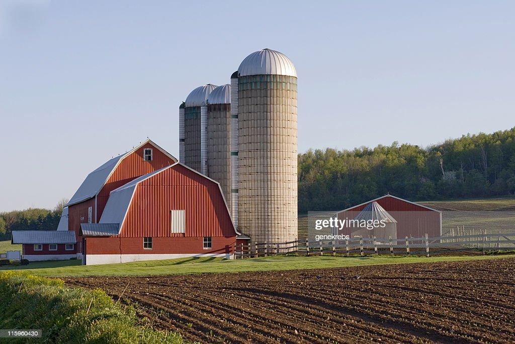 Red Barn in field : Stock Photo
